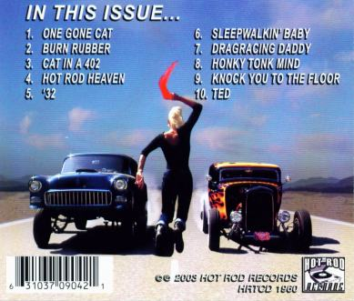 CD: The Hot Rod Trio - In This Issue... (back cover)